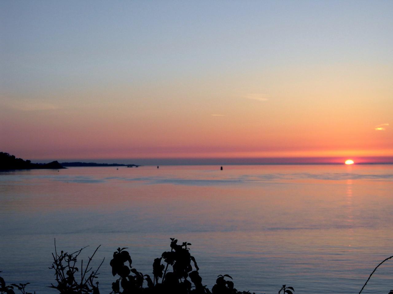 coucher de soleil sur la pointe du château