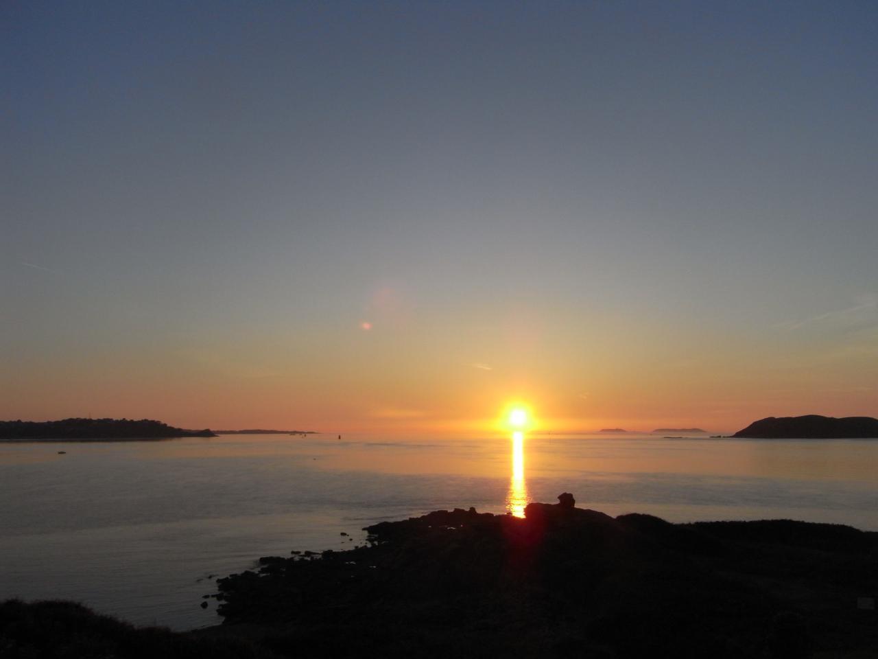 Coucher de soleil de la butte de Port l'Epine